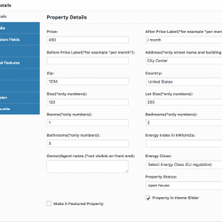 property page settings